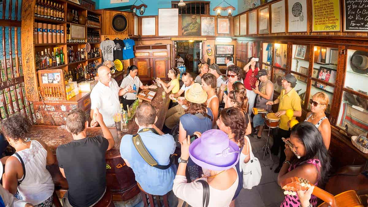 Skydream Travel custom tour - Cuban drink tasting in a pub in Havana