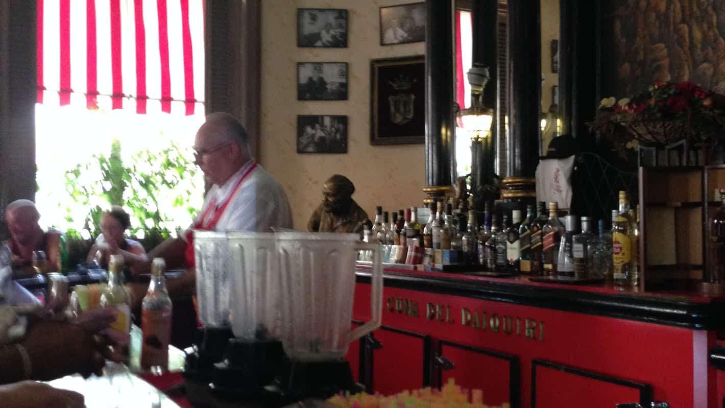 Old Havana Tour - Bartender preparing refreshing drinks at Floridita Bar