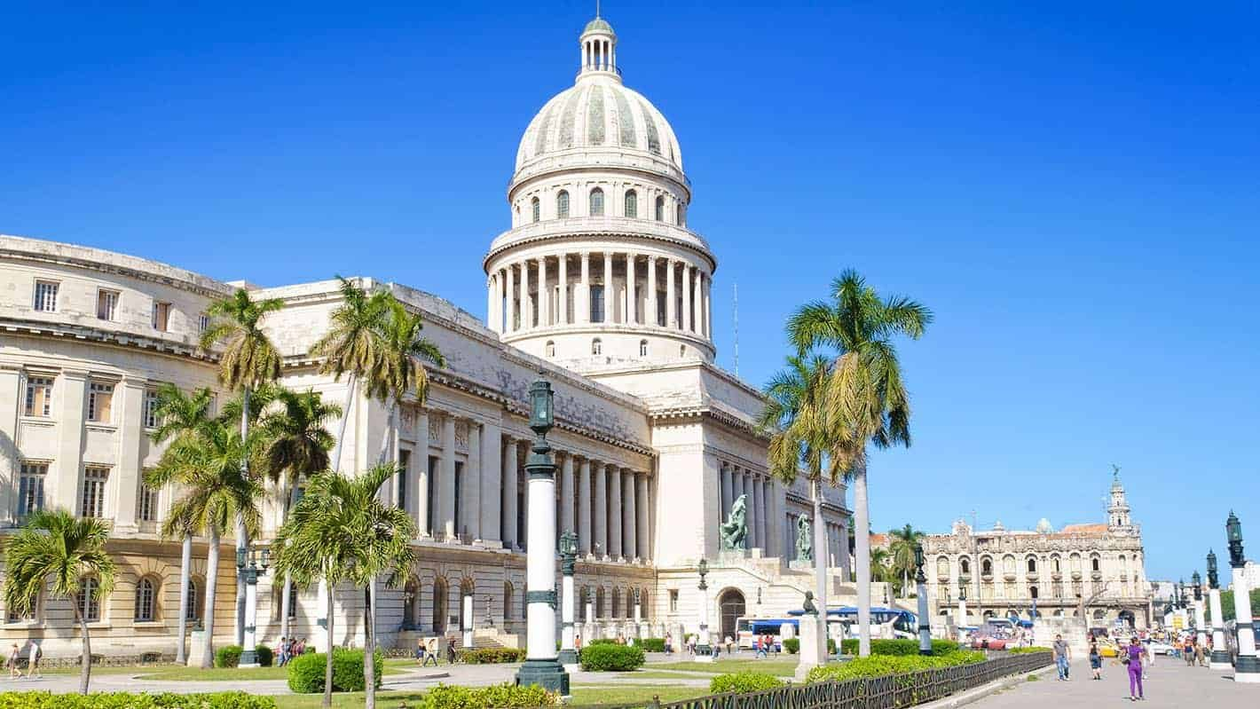 Old Havana Tour - This magnificent building in Havana copies the design of the Capitol building in Washington, D.C