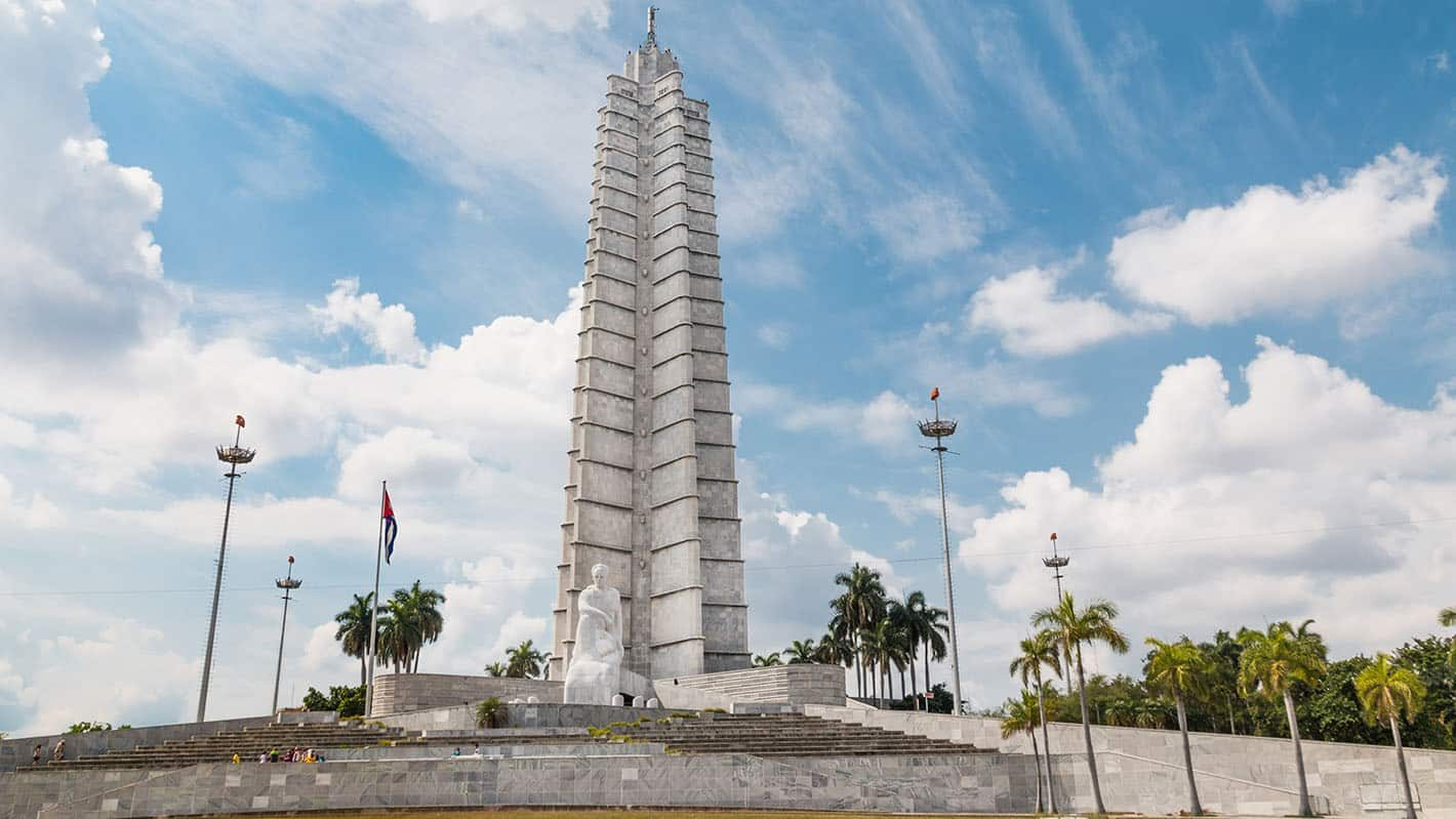 Havana City Tour - Revolution Square top attractions: Jose Marti's marble statue and star shaped tower