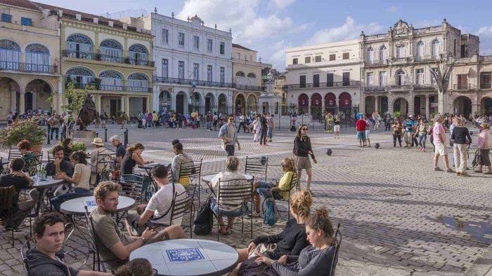 Old Havana Tour - The Old Square is surrounded by beautifully restored buildings